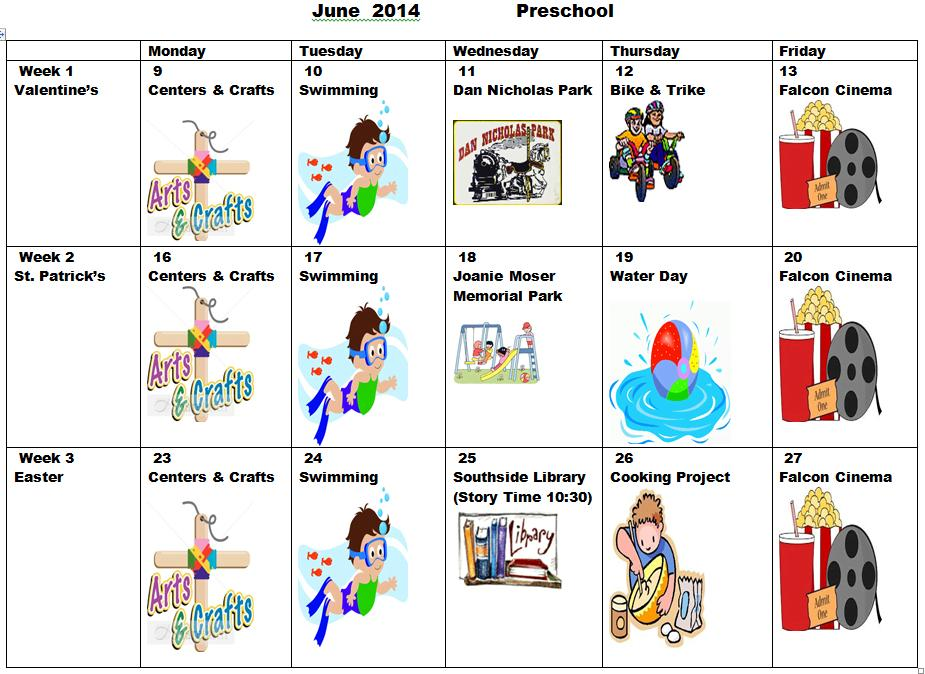 June Preschool Worksheets 1