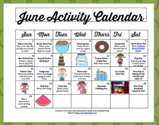June Preschool Worksheets 3