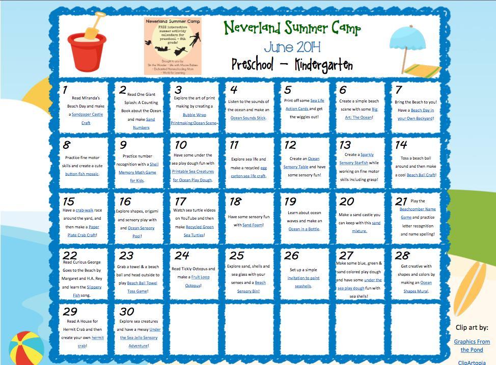 June Preschool Worksheets 6