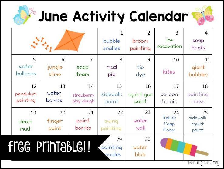 June Preschool Worksheets 8