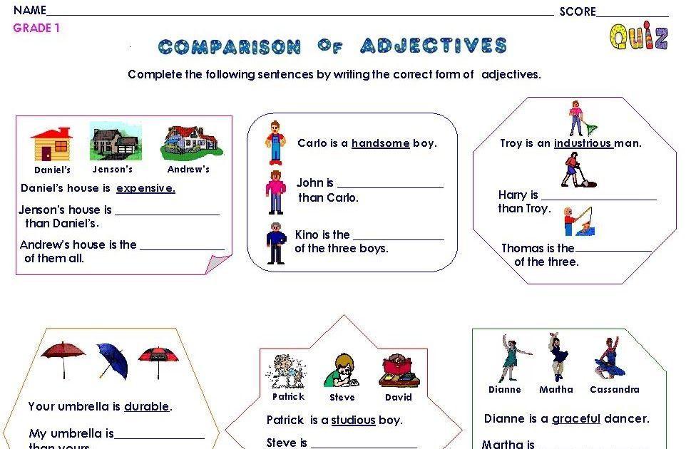 Preschool Grammar Worksheets 2
