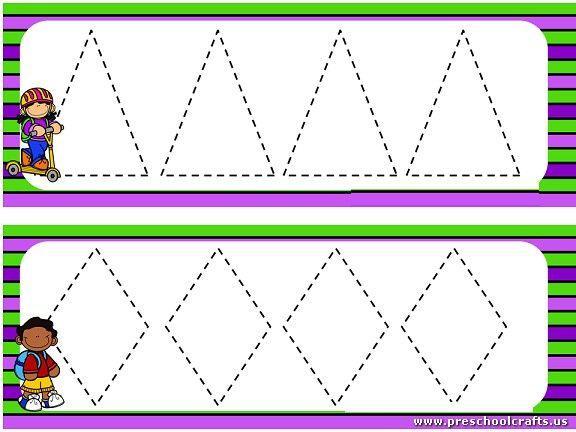 Preschool Worksheets Dotted Lines 3