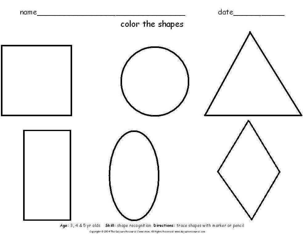 Preschool Worksheets Free Age 3 1