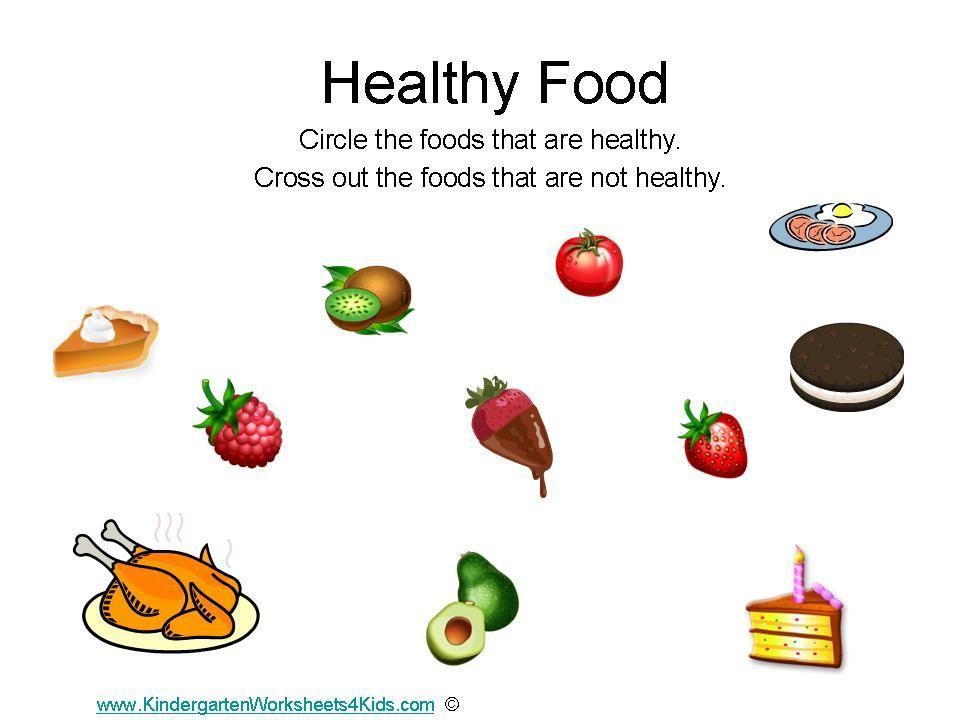 Preschool Worksheets Healthy Food 1