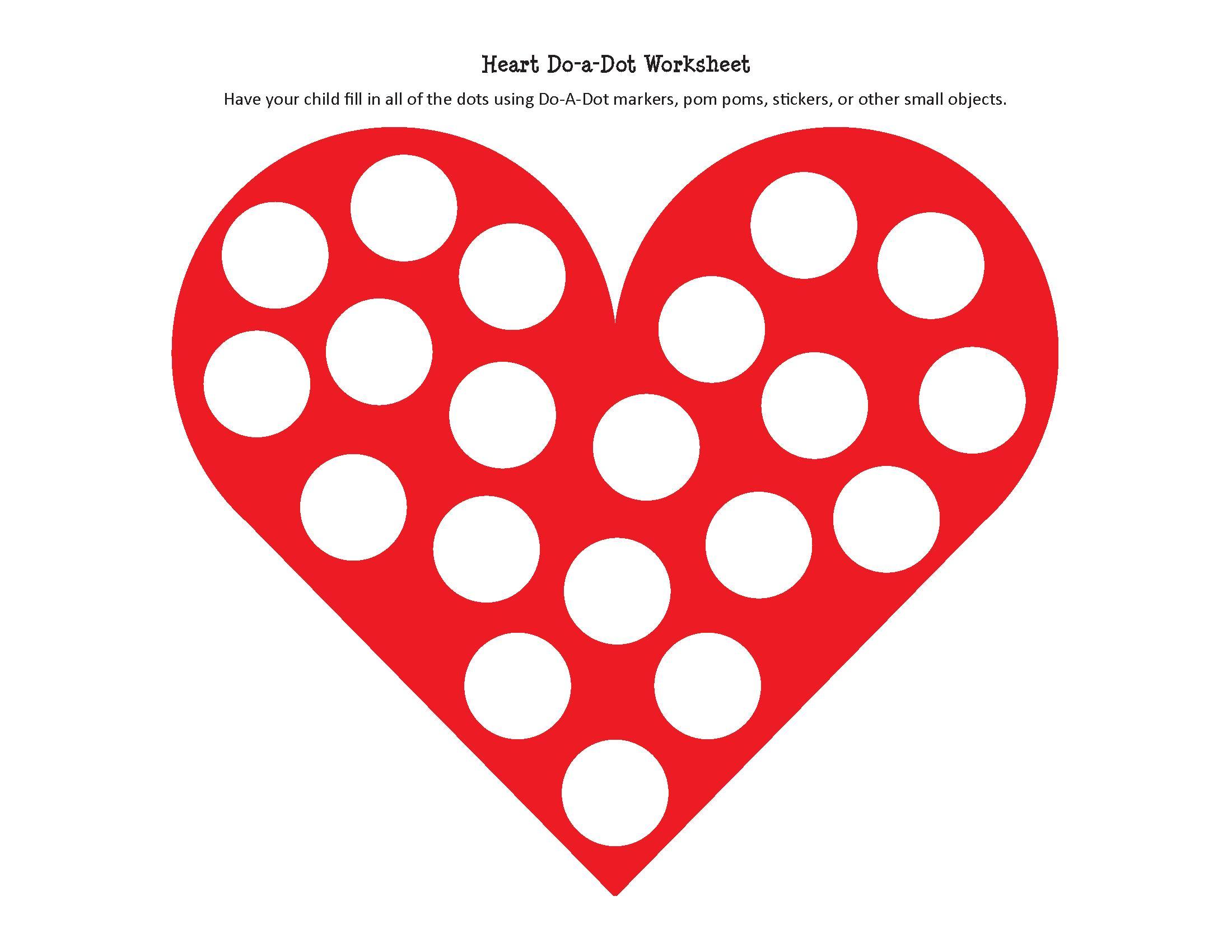 Preschool Worksheets Heart 1