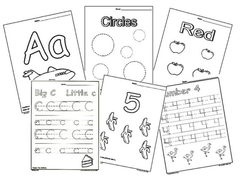 Preschool Worksheets In English 2