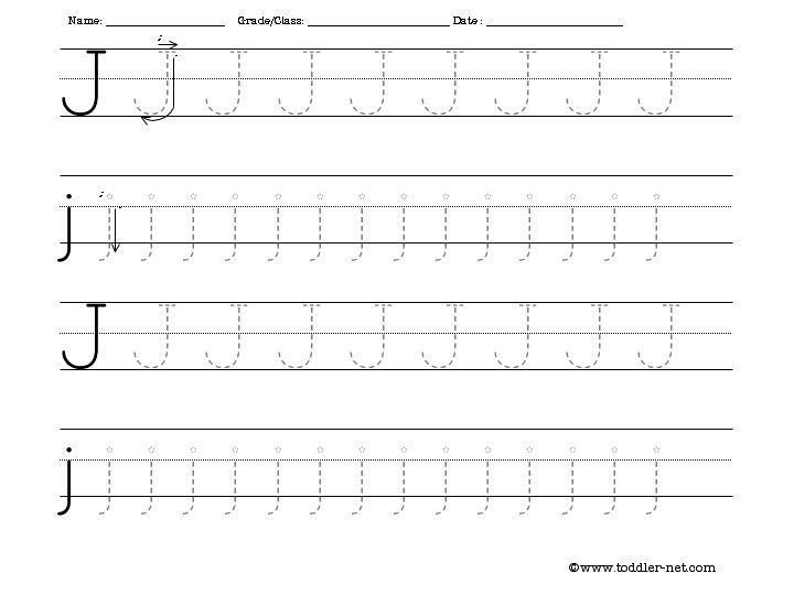 Printable Preschool Worksheets Letter J 1