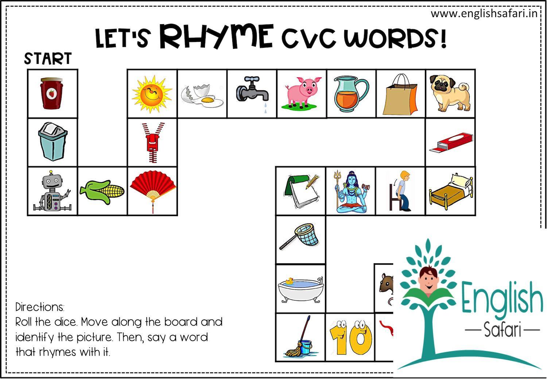Free Printable Rhyming Words Worksheets For Kindergarten