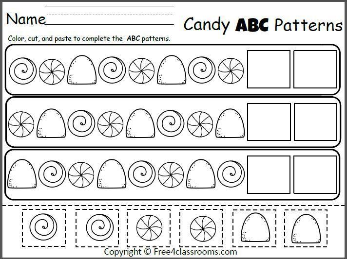 Preschool Pattern Worksheets For Kindergarten