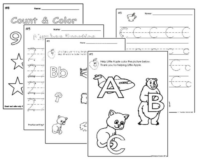 Preschool Readiness Worksheets 1