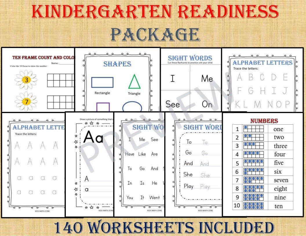 Preschool Readiness Worksheets 3