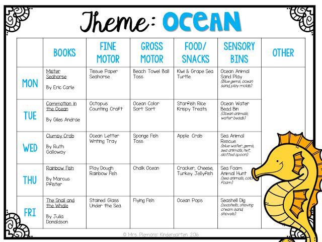 Preschool Worksheets Beach Theme