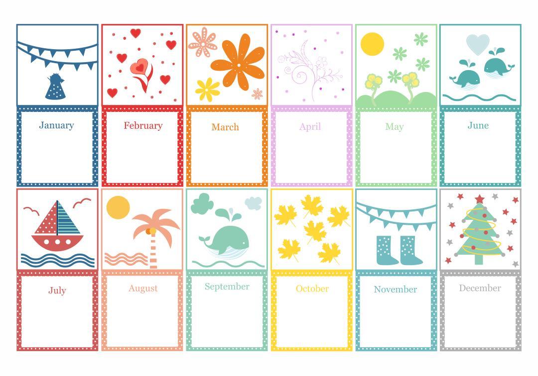 Preschool Worksheets Months 1