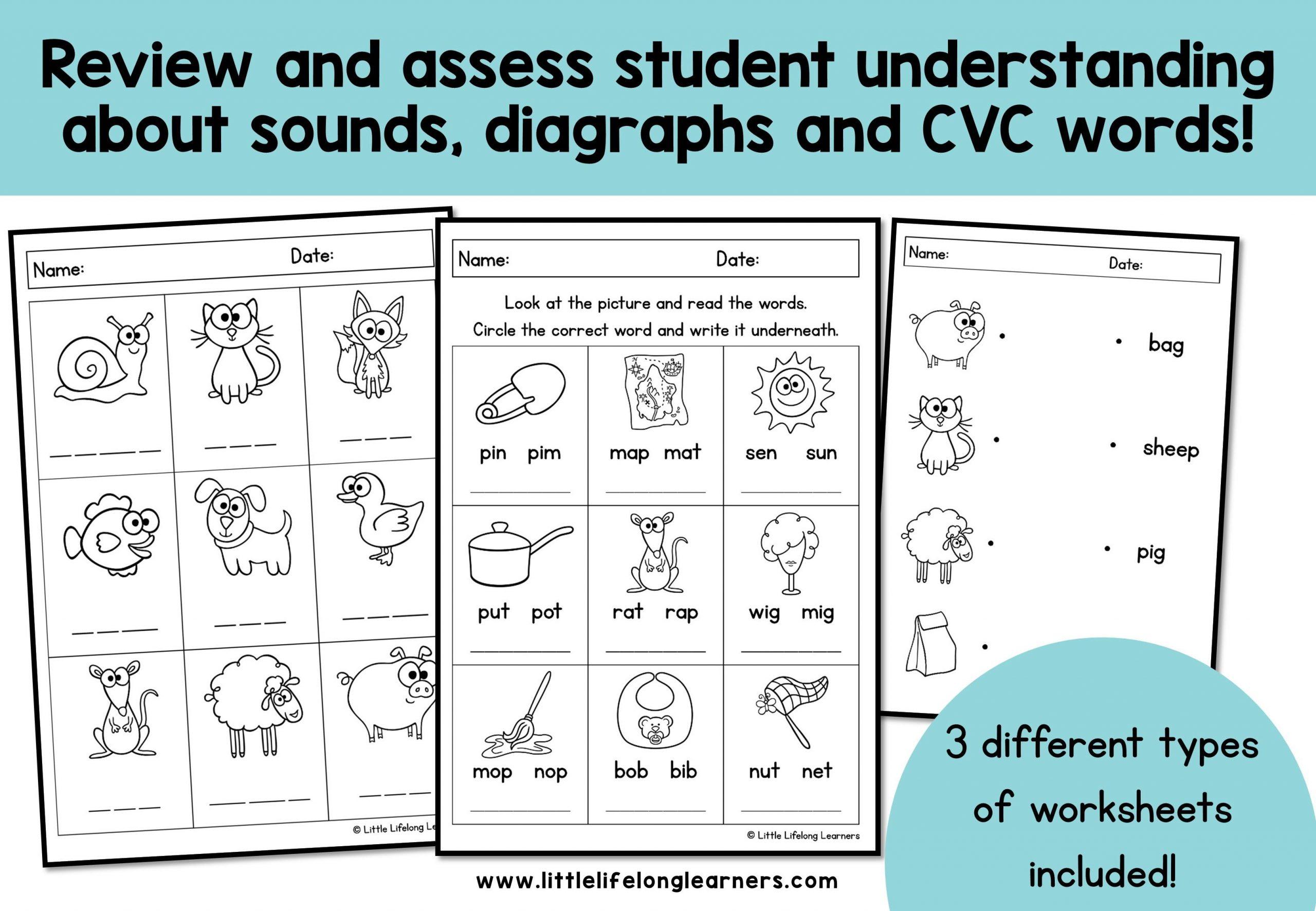 Preschool Worksheets Phonics 1