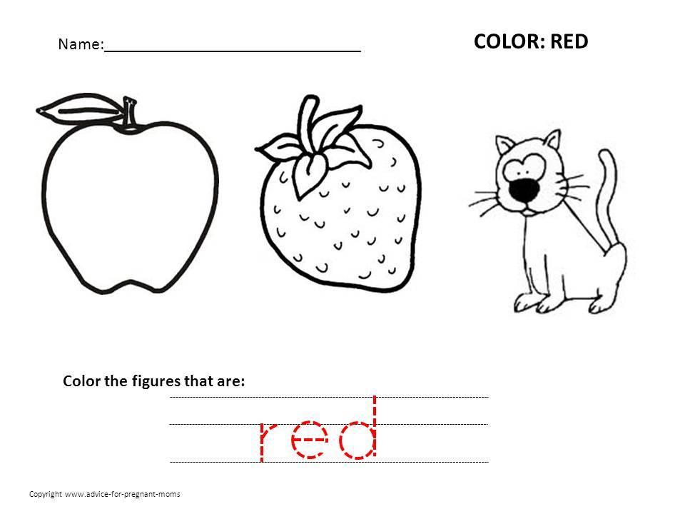 Preschool Worksheets Red 2