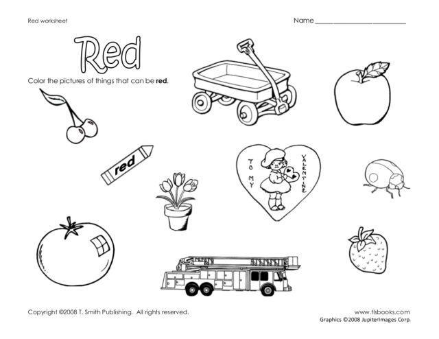 Preschool Worksheets Red 3