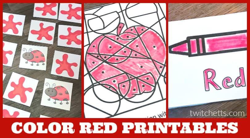 Preschool Worksheets Red 4