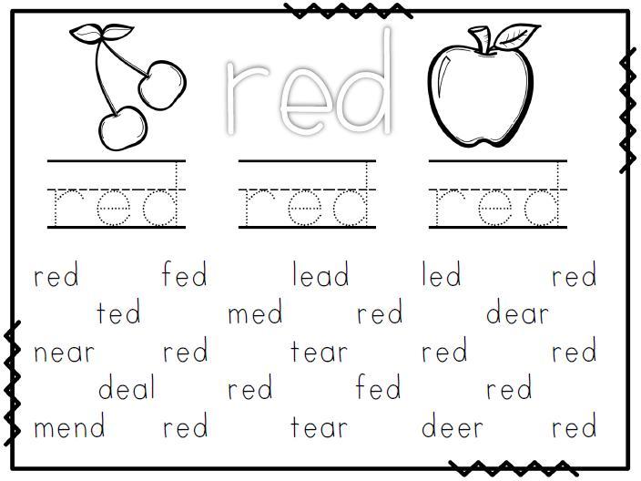 Preschool Worksheets Red 6