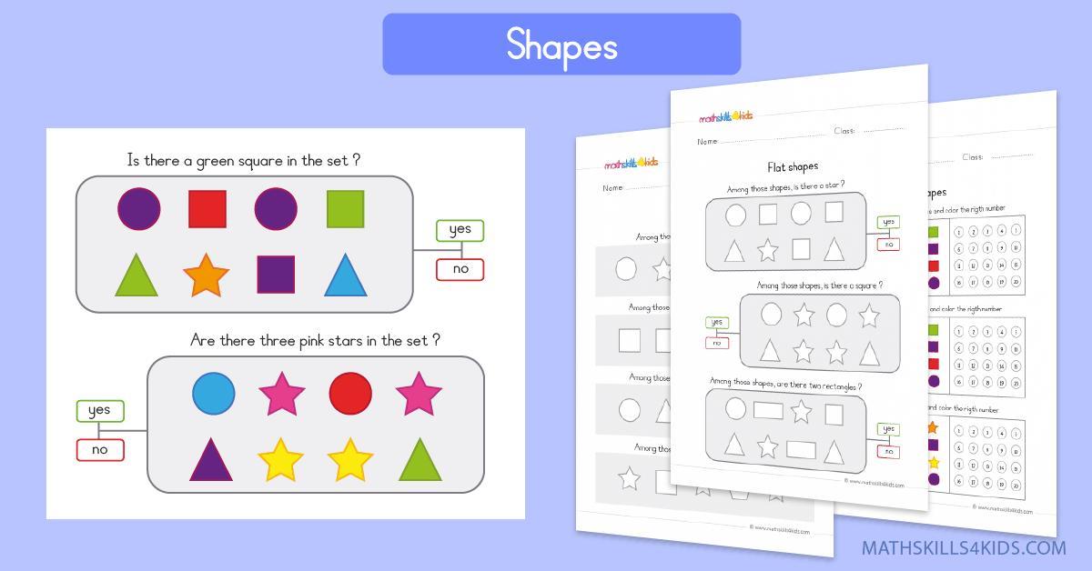 Preschool Worksheets Tracing Shapes 4