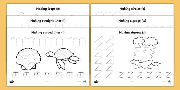 Preschool Worksheets Under The Sea 2