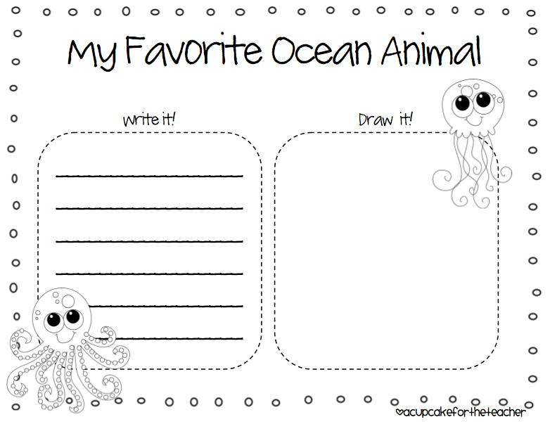 Preschool Worksheets Under The Sea 3