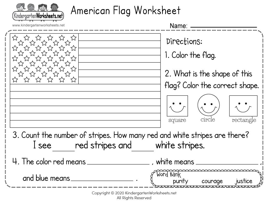 Preschool Worksheets Usa 1