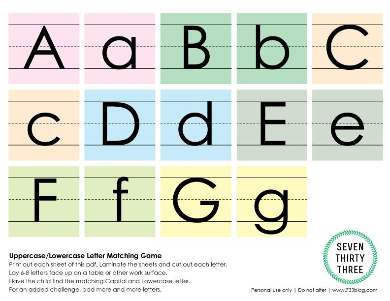 Upper And Lowercase Preschool Worksheets 4