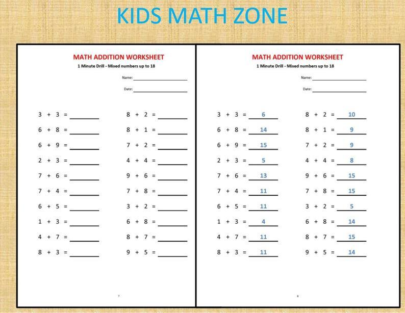 Math Worksheets And Answers 1