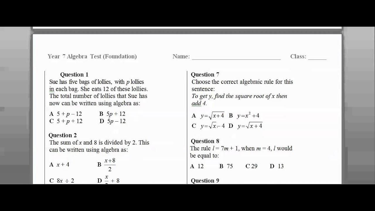 Math Worksheets By Grade 8