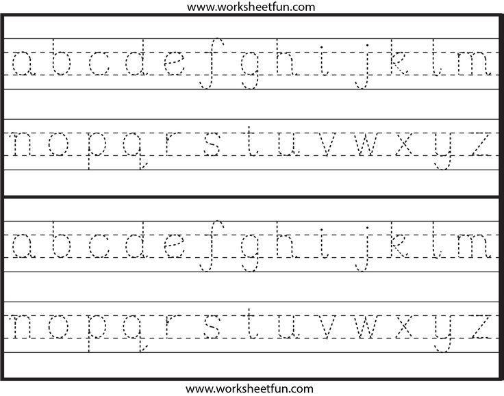 Preschool Alphabet Worksheets A-z Pdf
