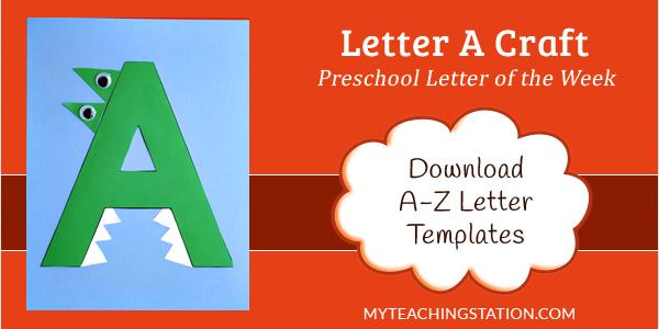 Preschool Printables Letter A
