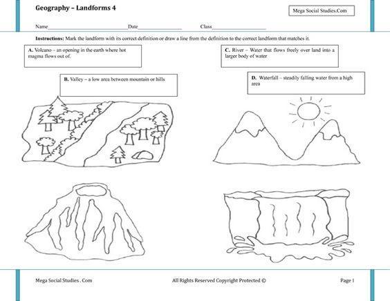 Preschool Volcano Worksheets 3
