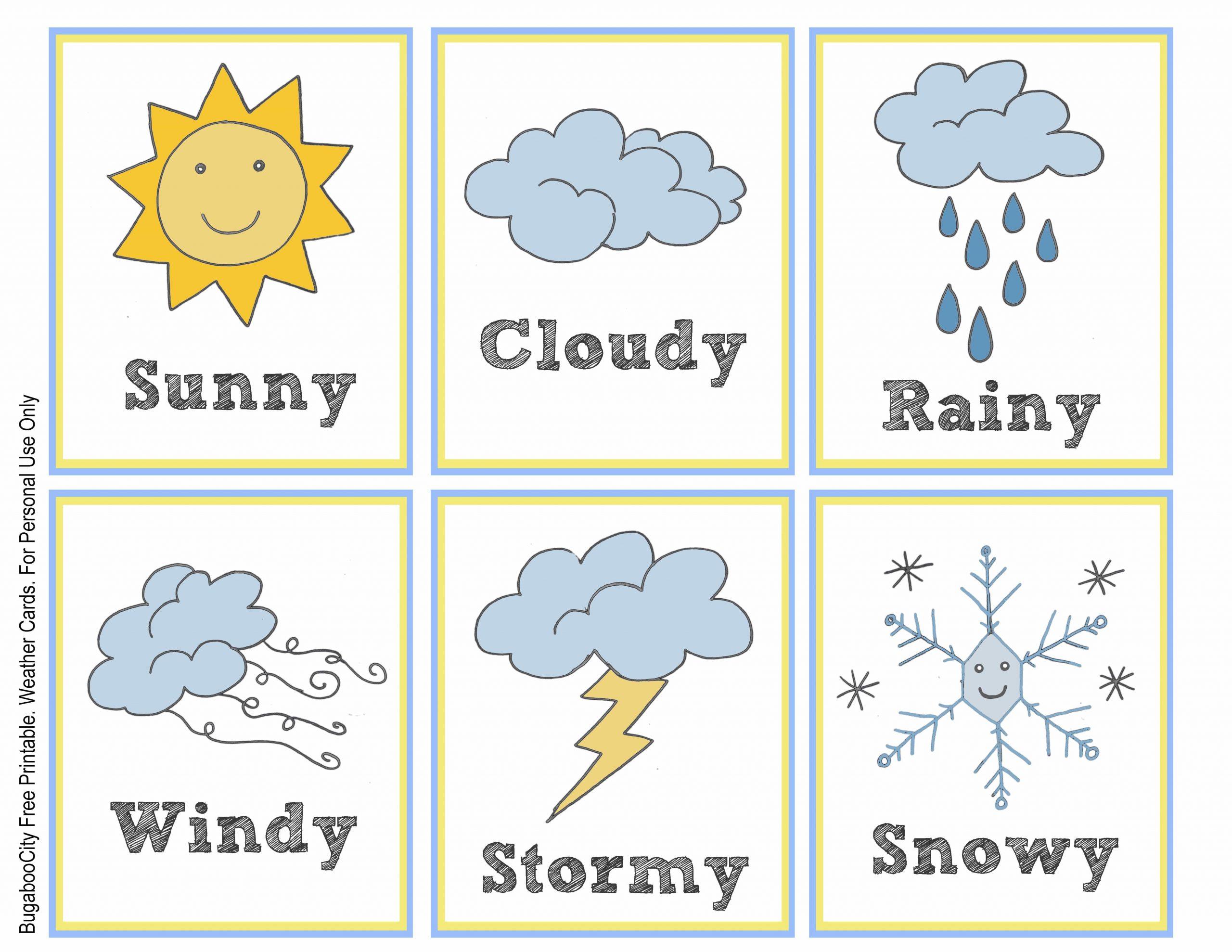 Preschool Weather Worksheets Free
