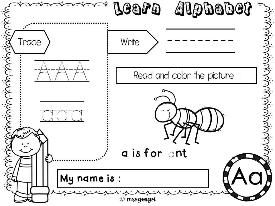 Preschool Writing Worksheets A-z For Beginners 7