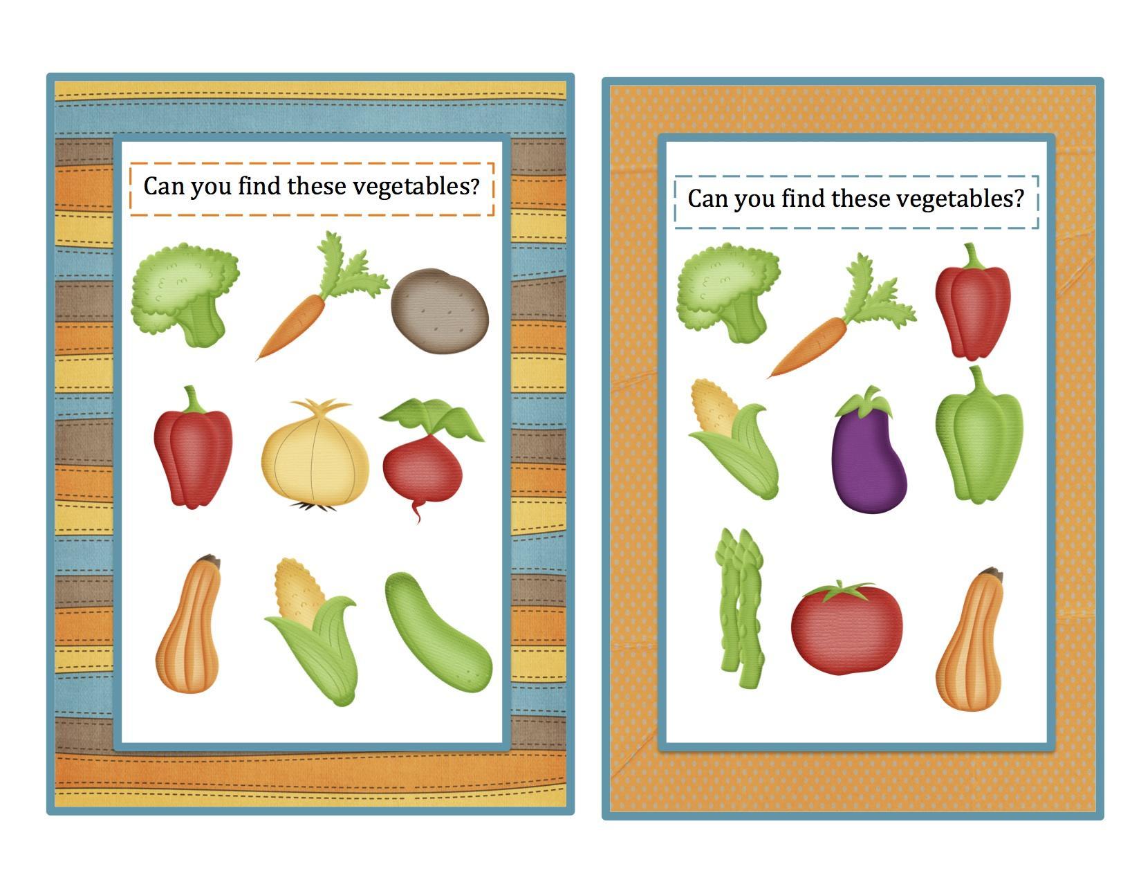 Vegetables Worksheets For Preschoolers Pdf