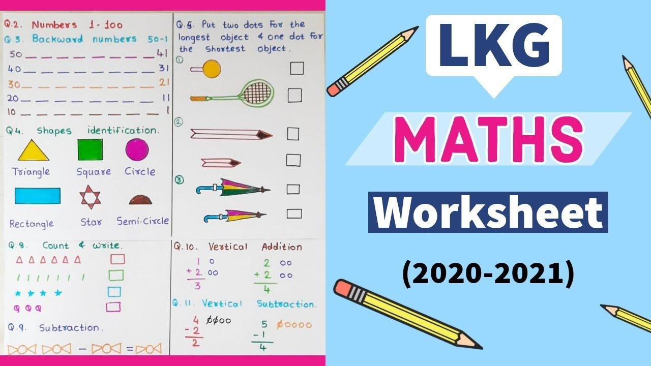 Lkg Math Worksheets Pdf Free Download