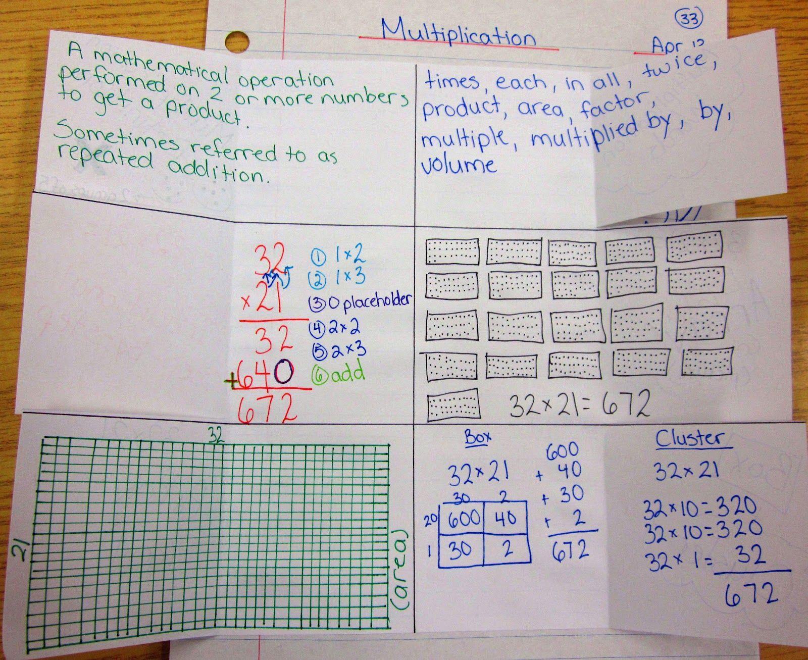 Math Journal Worksheets 7