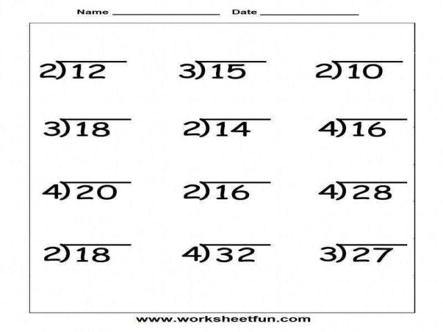 Math Worksheets Division With Remainders 14
