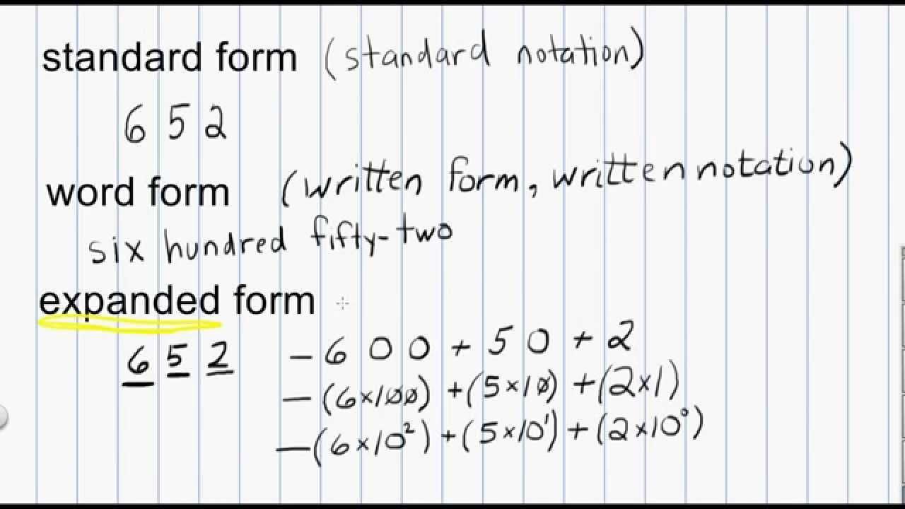 Math Worksheets Expanded Form 8