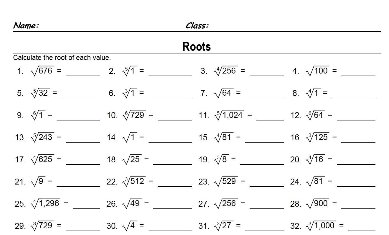 Math Worksheets For Grade 6 3