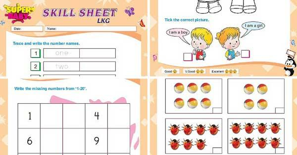 Math Worksheets For Lkg Class