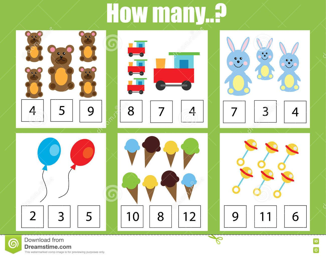 Math Worksheets How Many 6