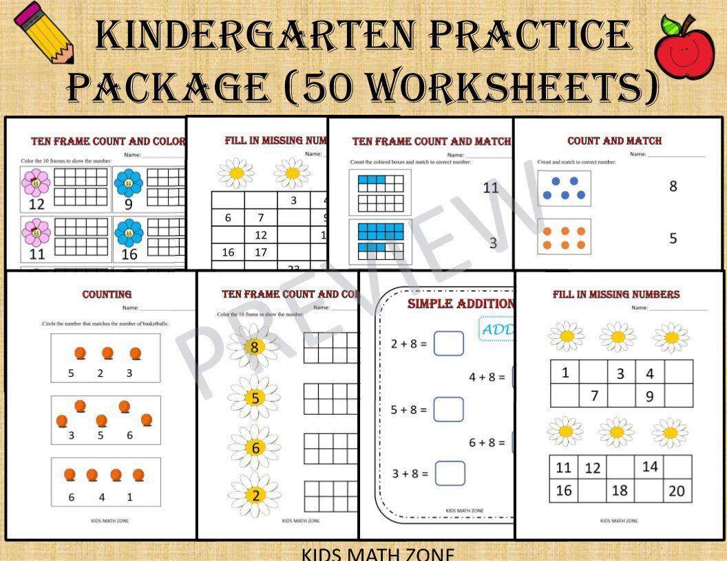 Math Worksheets Kindergarten Free Printable