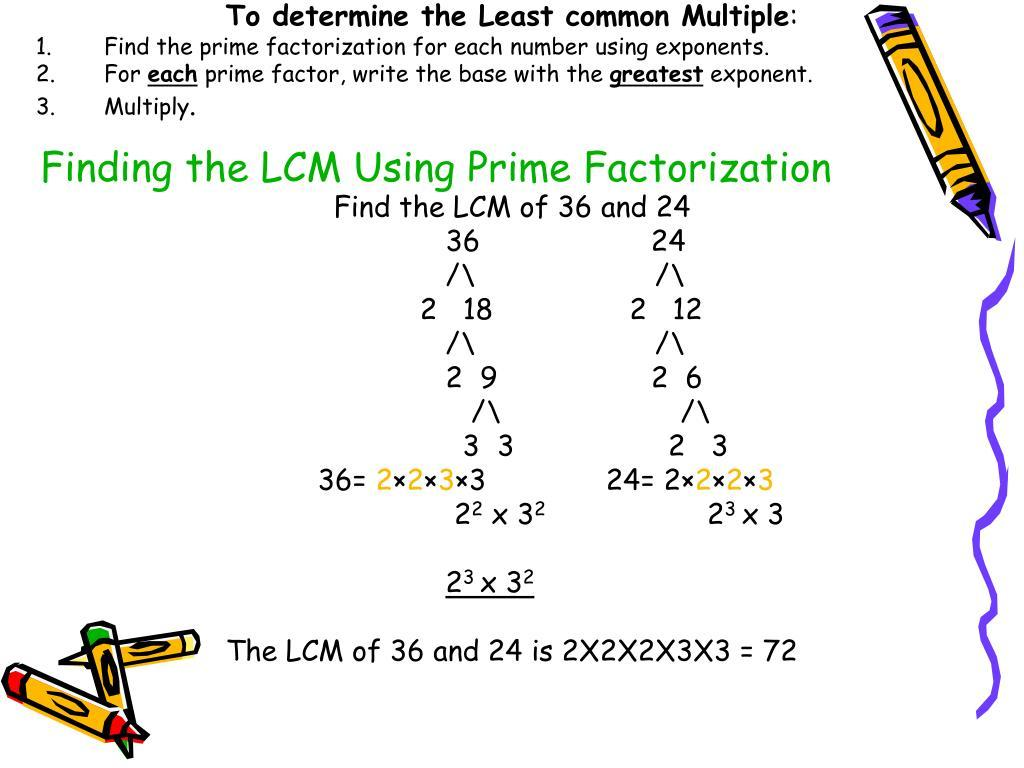 Math Worksheets Least Common Multiple 1