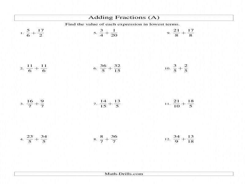 Math Worksheets Least Common Multiple 4