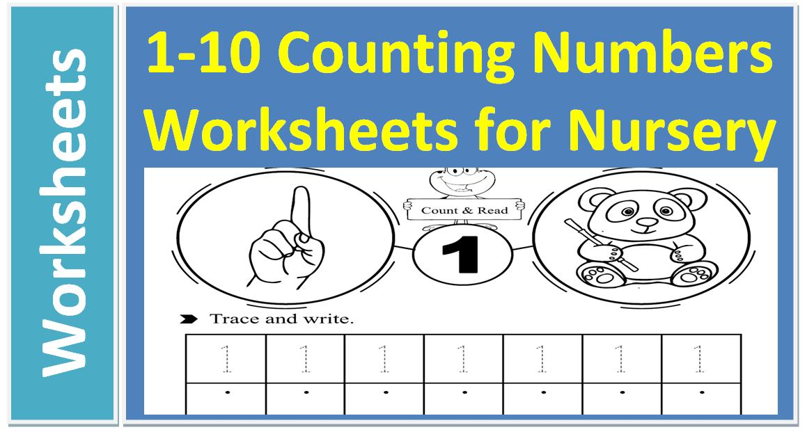 Kindergarten Math Worksheets Missing Numbers 1-10