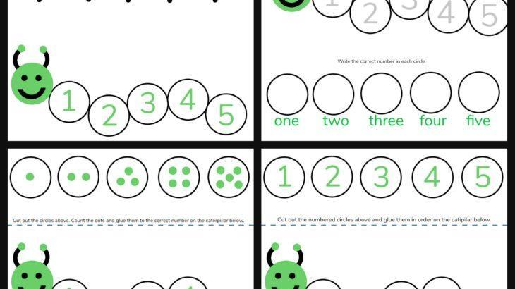 Kindergarten Math Worksheets Numbers 1-5