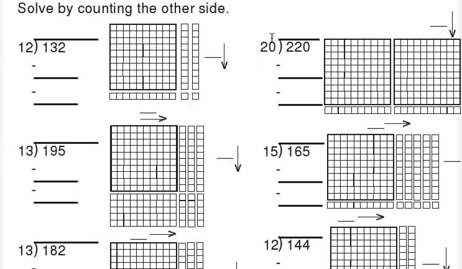 Math Worksheets For Base Ten Blocks