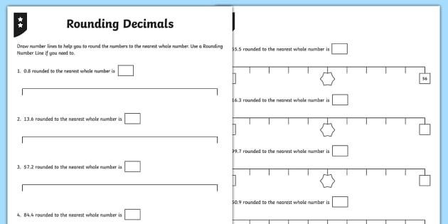Math Worksheets For Rounding Whole Numbers