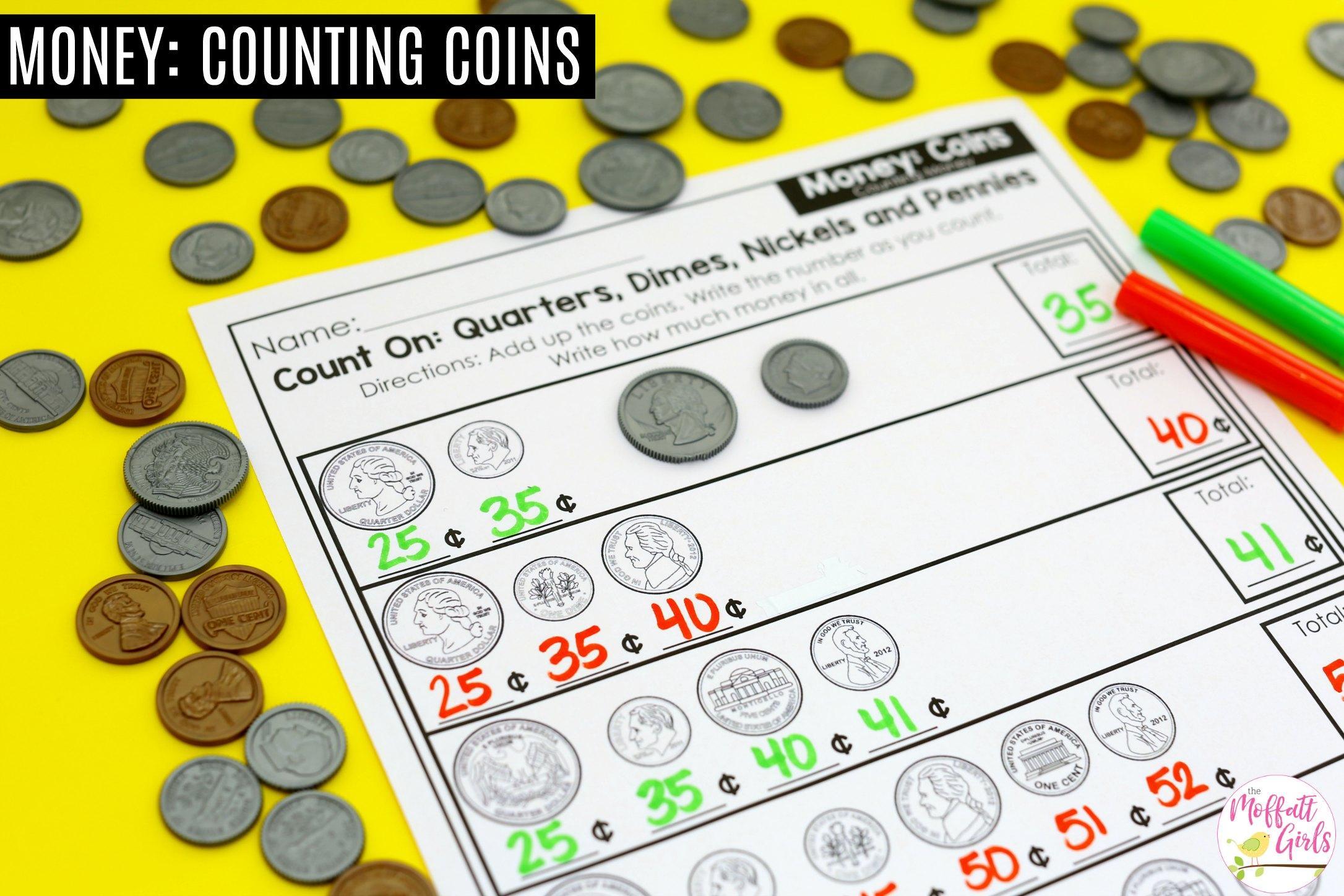 Math Worksheets Money 3rd Grade